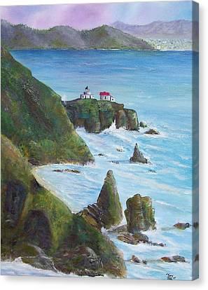 Point Bonita Lighthouse Canvas Print by Tony Rodriguez