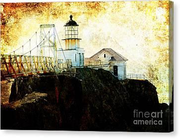Point Bonitas Lighthouse . Texture Canvas Print