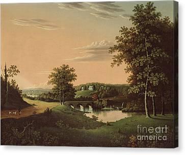 Point Breeze  The Estate Of Napoleon Canvas Print