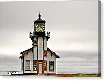 Old Home Canvas Print - Point Cabrillo Lighthouse California by Christine Till