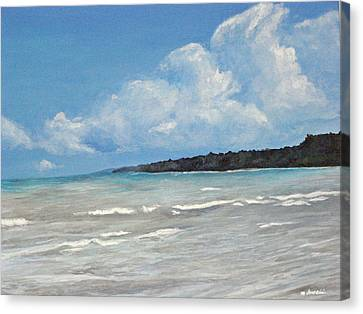 Canvas Print featuring the painting Point Farms Provincial Park by Meagan  Visser