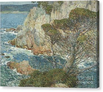 Point Lobos State Canvas Print - Point Lobos, Carmel, 1914 by Childe Hassam
