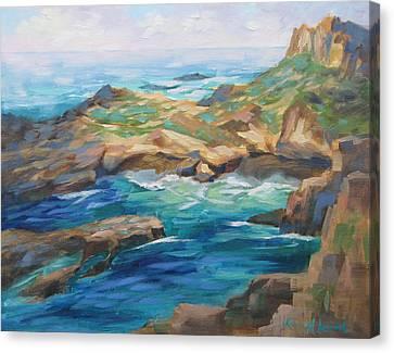 Whalers Cove Canvas Print - Point Lobos Cove by Karin Leonard