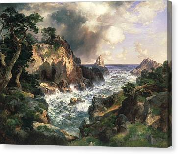 Point Lobos Monterey California Canvas Print by Thomas Moran