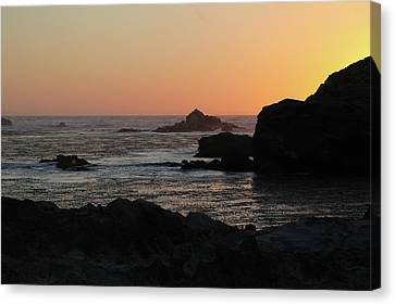 Canvas Print featuring the photograph Point Lobos Sunset by David Chandler