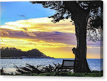 Whalers Cove Canvas Print - Point Lobos Sunset by Jeri Sawall