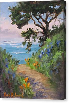 China Cove Canvas Print - Point Lobos View by Karin Leonard