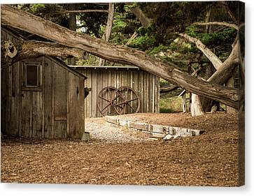 Whalers Cove Canvas Print - Point Lobos Whaler's Cabin by Linda Baker