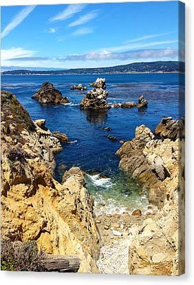 Whalers Cove Canvas Print - Point Lobos Whalers Cove- Seascape Art by Kathy  Symonds