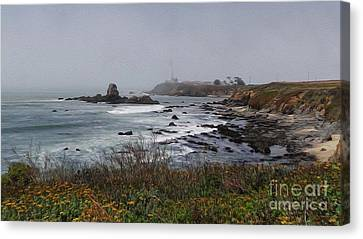 Canvas Print featuring the photograph Point Montara Lighthouse by David Bearden