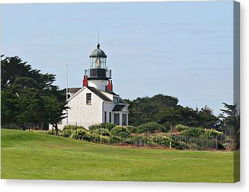 Point Pinos Light - Lighthouse On The Golf Course - Pacific Grove Monterey Central Ca Canvas Print by Christine Till
