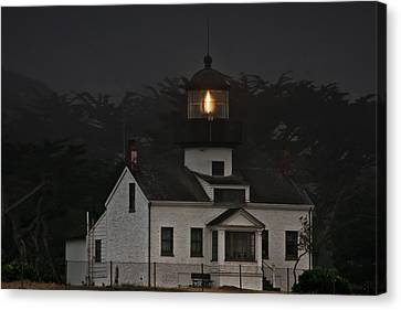 Point Pinos Lighthouse Ca Canvas Print by Christine Till
