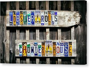 Chowder House Canvas Print - Point Prim Chowder House by Carolyn Derstine