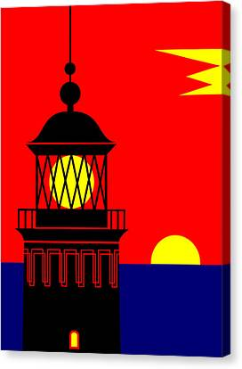 Point Queen Charlotte Light House Canvas Print by Asbjorn Lonvig