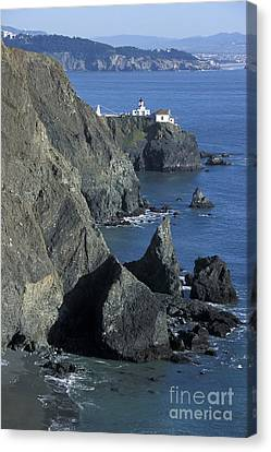 Canvas Print featuring the photograph Point Reyes Light by Stan and Anne Foster