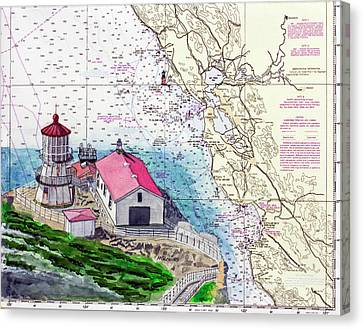 Point Reyes Light Station Canvas Print by Mike Robles