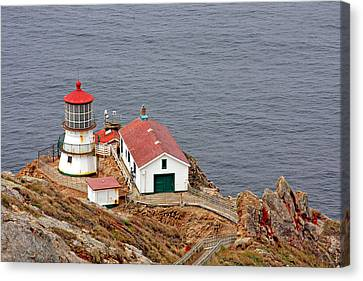 West Coast Canvas Print - Point Reyes Lighthouse Ca by Christine Till