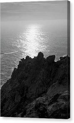 Canvas Print featuring the photograph Point Reyes Seascape I Bw by David Gordon