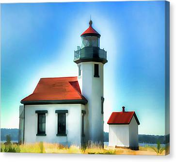 Point Robinson Lighthouse Canvas Print by Greg Sigrist