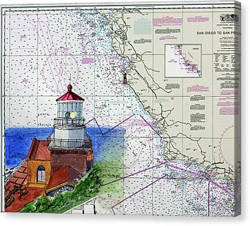 Point Sur Light Station Canvas Print by Mike Robles