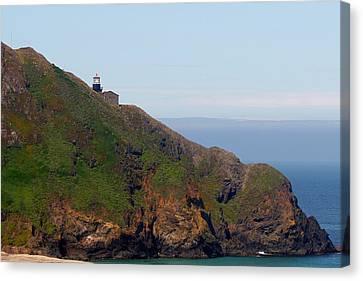 West Canvas Print - Point Sur Lighthouse Ca  by Christine Till