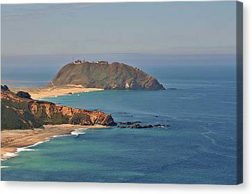 Point Sur Lighthouse On Central California's Coast - Big Sur California Canvas Print by Christine Till