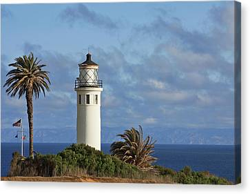 Lightstations Canvas Print - Point Vicente Lighthouse On The Cliffs Of Palos Verdes California by Christine Till