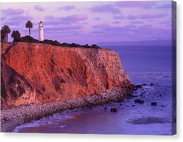 Canvas Print featuring the photograph Point Vicente Lighthouse - Point Vicente - Orange County by Photography By Sai