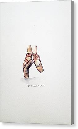 Pointe On Friday Canvas Print by Venie Tee