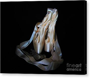 Pointe Shoes And Dog Tags1 Canvas Print