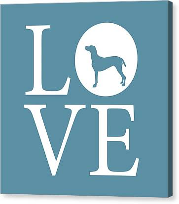 Pointer Love Canvas Print by Nancy Ingersoll