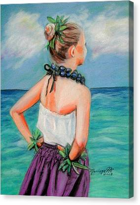 Poipu Hula Canvas Print by Marionette Taboniar