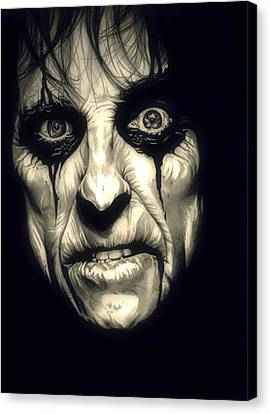 Poison Alice Cooper Canvas Print by Fred Larucci