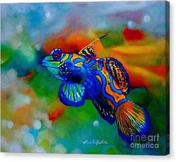 Poisson Bleu Canvas Print