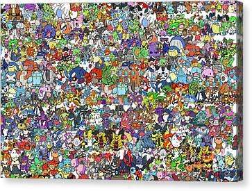 Pokemon  Canvas Print by Mark Ashkenazi