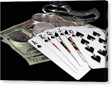Poker - The Winning Hand Canvas Print