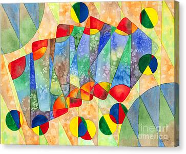 Poker Abstract Watercolor Canvas Print