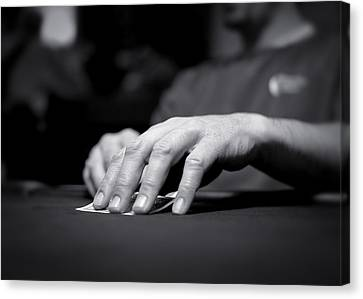 Poker Hand Canvas Print by Todd Klassy