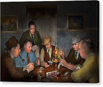 Poker - Poker Face 1939 Canvas Print by Mike Savad