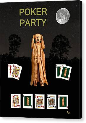Poker Scream Party Poker Canvas Print by Eric Kempson