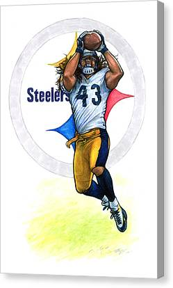 Polamalu  Canvas Print by Erik Schutzman
