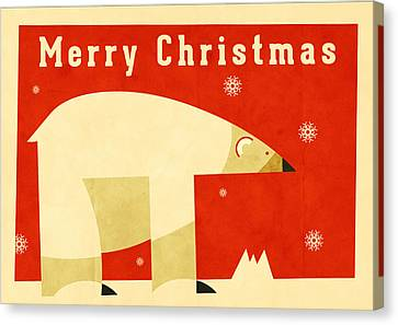 Cartoonist Canvas Print - Polar Bear 1 by Daviz Industries