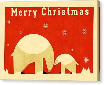 Polar Bear 5 Canvas Print by Daviz Industries