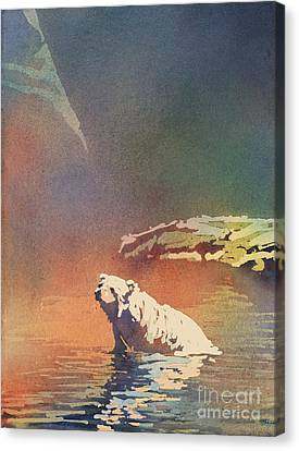 Polar Bear At Rest Canvas Print