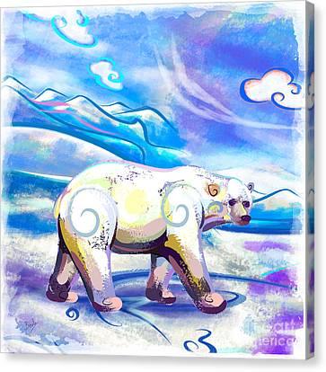 Polar Bear Canvas Print by Bedros Awak