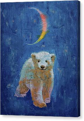 Polar Bear Cub Canvas Print by Michael Creese