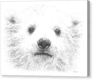 Polar Bear Cub Canvas Print by Remrov