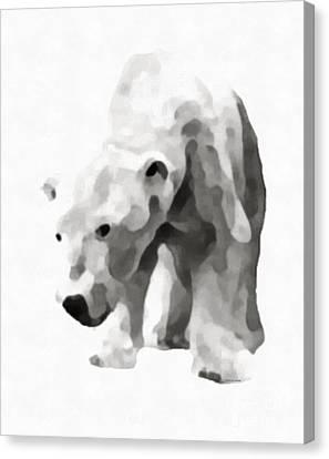Polar Bear Painting Canvas Print by Edward Fielding