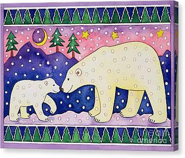 Snow Flake Canvas Print - Polar Bears by Cathy Baxter