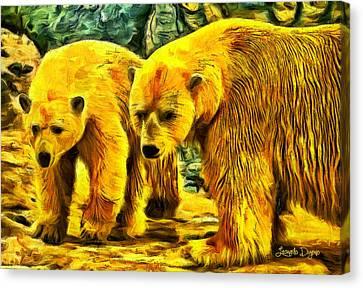 Polar Bears - Da Canvas Print